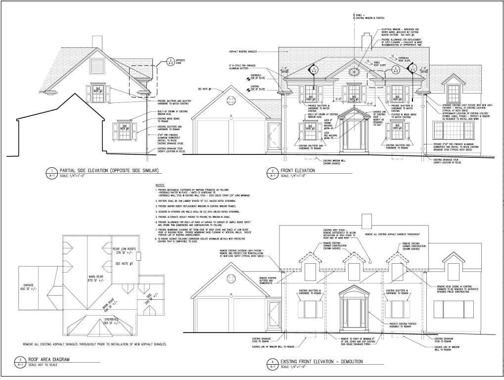 Westport house make over 12 19 2011 joseph bergin for Construction drawing