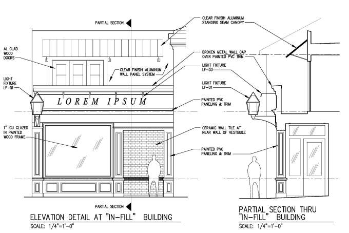 Infill Building Drawing